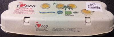 ICA i♥eco 12 ekologiska ägg från frigående höns - Product - sv