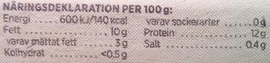 ICA i♥eco 12 ekologiska ägg från frigående höns - Nutrition facts - sv