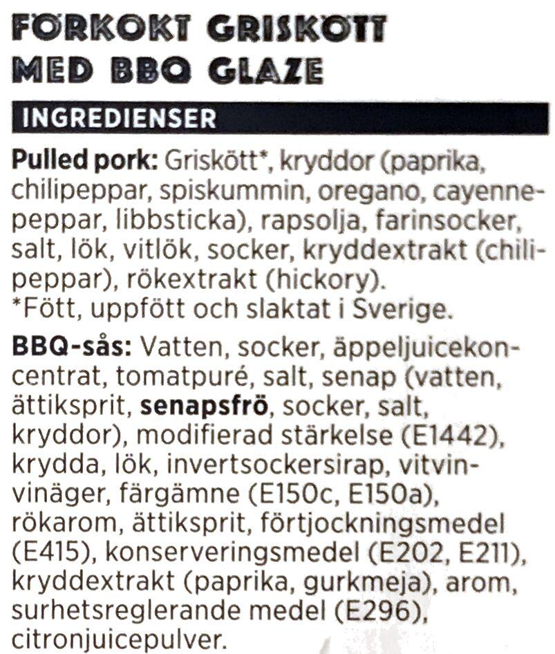 Pulled pork - Ingrédients - sv