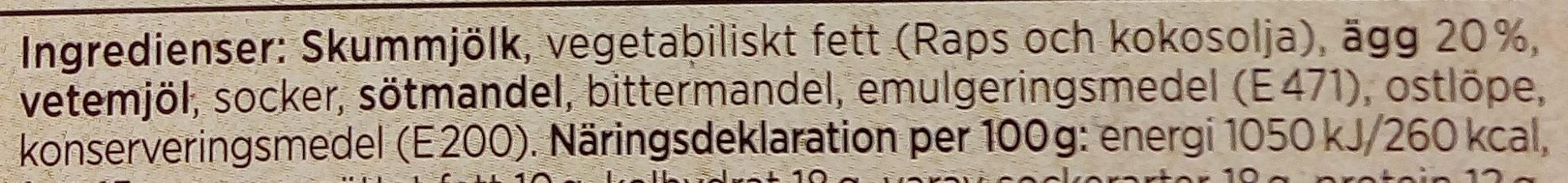 ICA God smak från Småländsk ostkaka - Ingrédients - sv