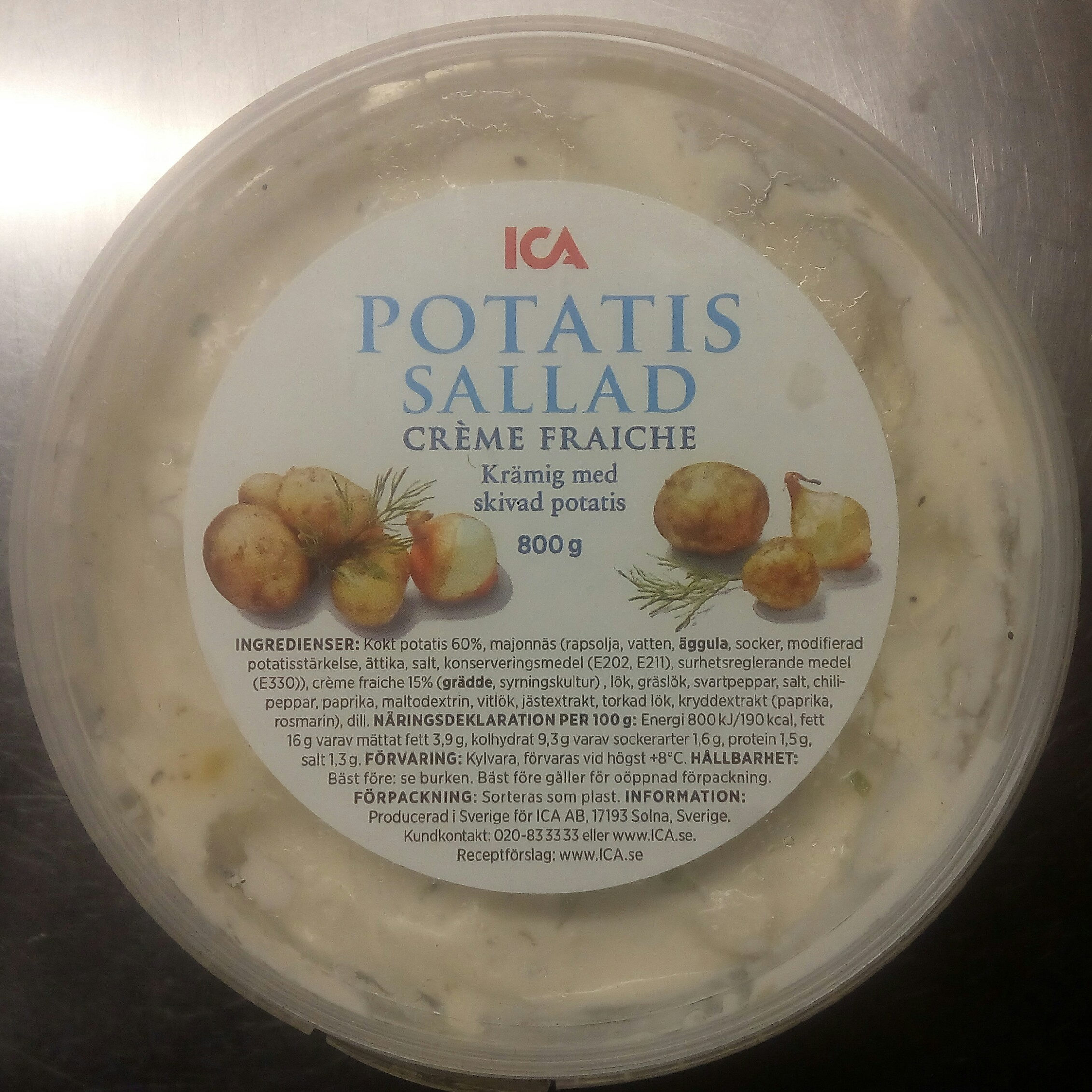 ICA Potatissallad Crème Fraiche - Product