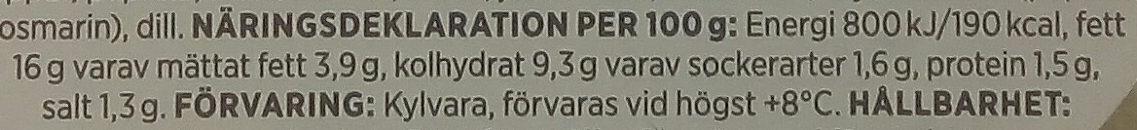 ICA Potatissallad Crème Fraiche - Nutrition facts