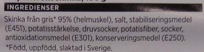 Alspånsröt skinka - Ingrédients - sv