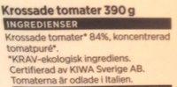 ICA i♥eco Ekologiska krossade tomater - Ingrédients - sv