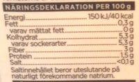 ICA i♥eco Ekologiska krossade tomater - Informations nutritionnelles - sv