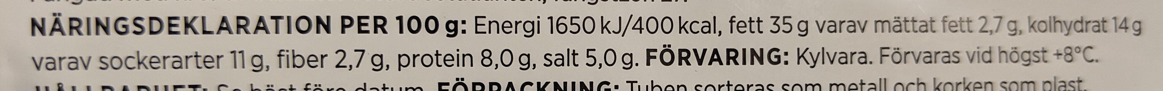 ICA Kaviar av torsk från norska havet - Informations nutritionnelles