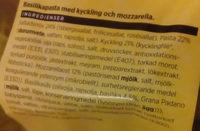 ICA Snabbt & fräscht Kyckling, basilikapasta, mozzarella - Ingredients