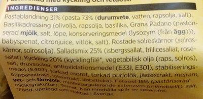 ICA Smidigt & gott Kyckling och fetaost, pastasallad - Ingredients