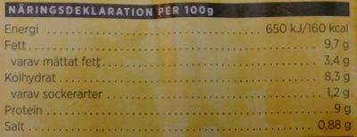 ICA Smidigt & gott Kyckling och fetaost, pastasallad - Nutrition facts