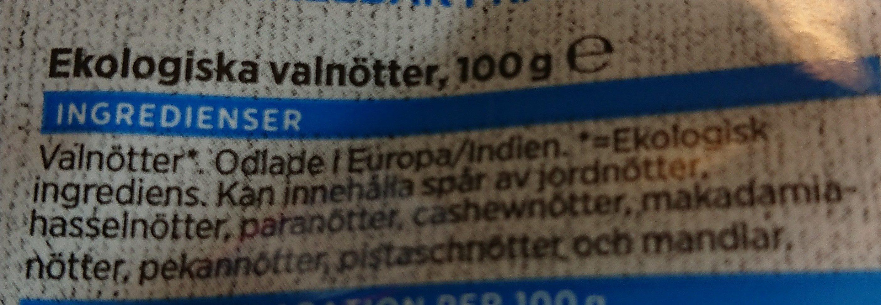 Ekologiska Valnötter - Ingrediënten