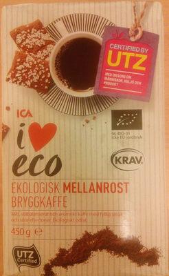 ICA i♥eco Ekologisk Mellanrost Bryggkaffe - Produit - sv