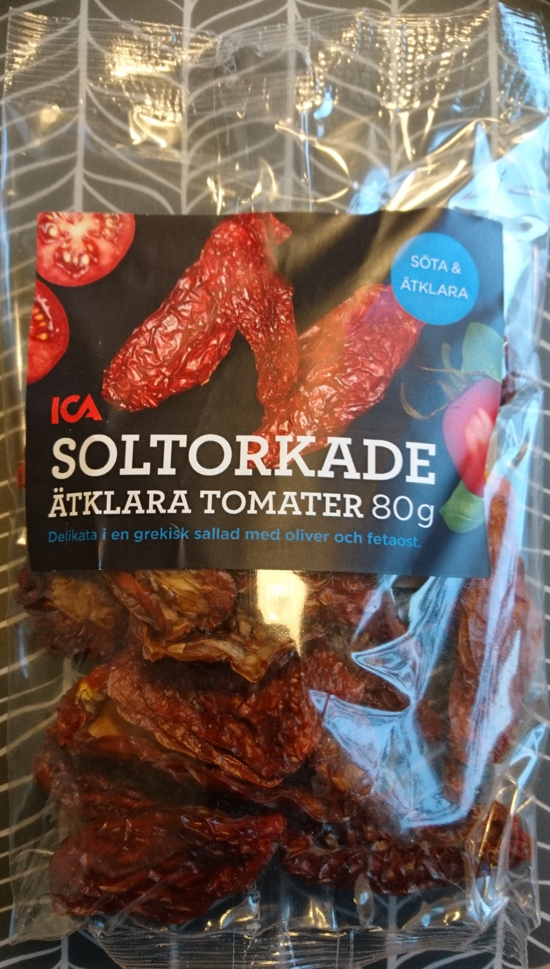 Soltorkade ätklara tomater - Produit - sv