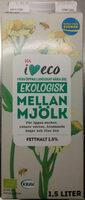 ICA i♥eco ekologisk mellanmjölk - Produit - sv
