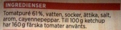 ICA Tomatketchup - Ingredients