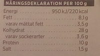 ICA Bara att värma Pizza Hawaii - Nutrition facts