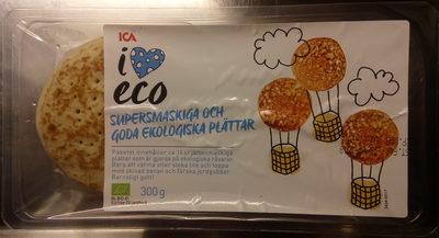 ICA i♥eco Supersmaskiga och goda ekologiska plättar - Produit - sv