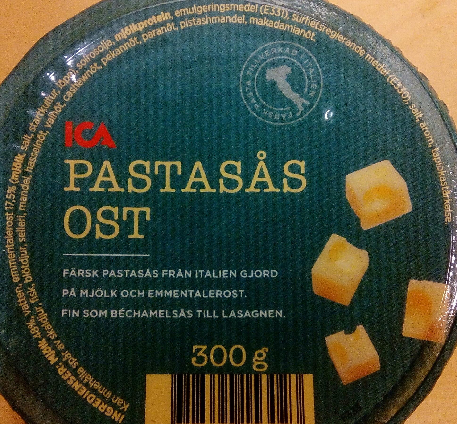ICA Pastasås Ost - Ingrédients - sv