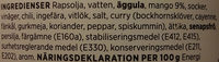 ICA Mango-currysås - Ingredients
