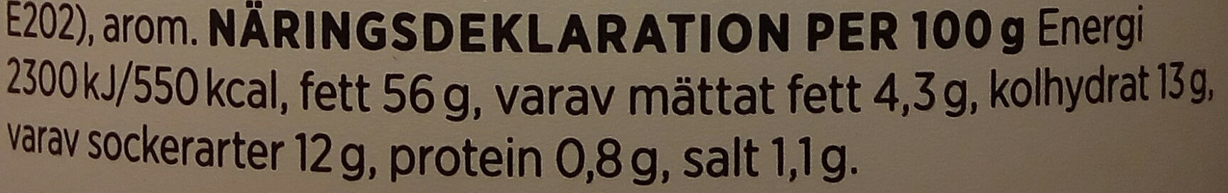 ICA Mango-currysås - Nutrition facts