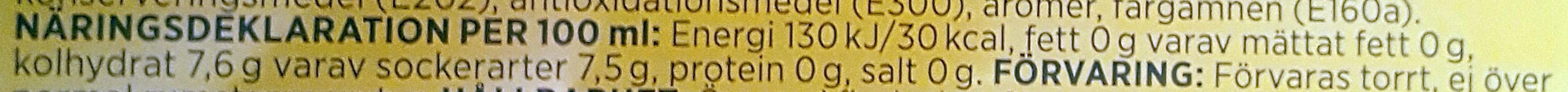 Apelsin Kolsyrad läskedryck - Informations nutritionnelles - sv