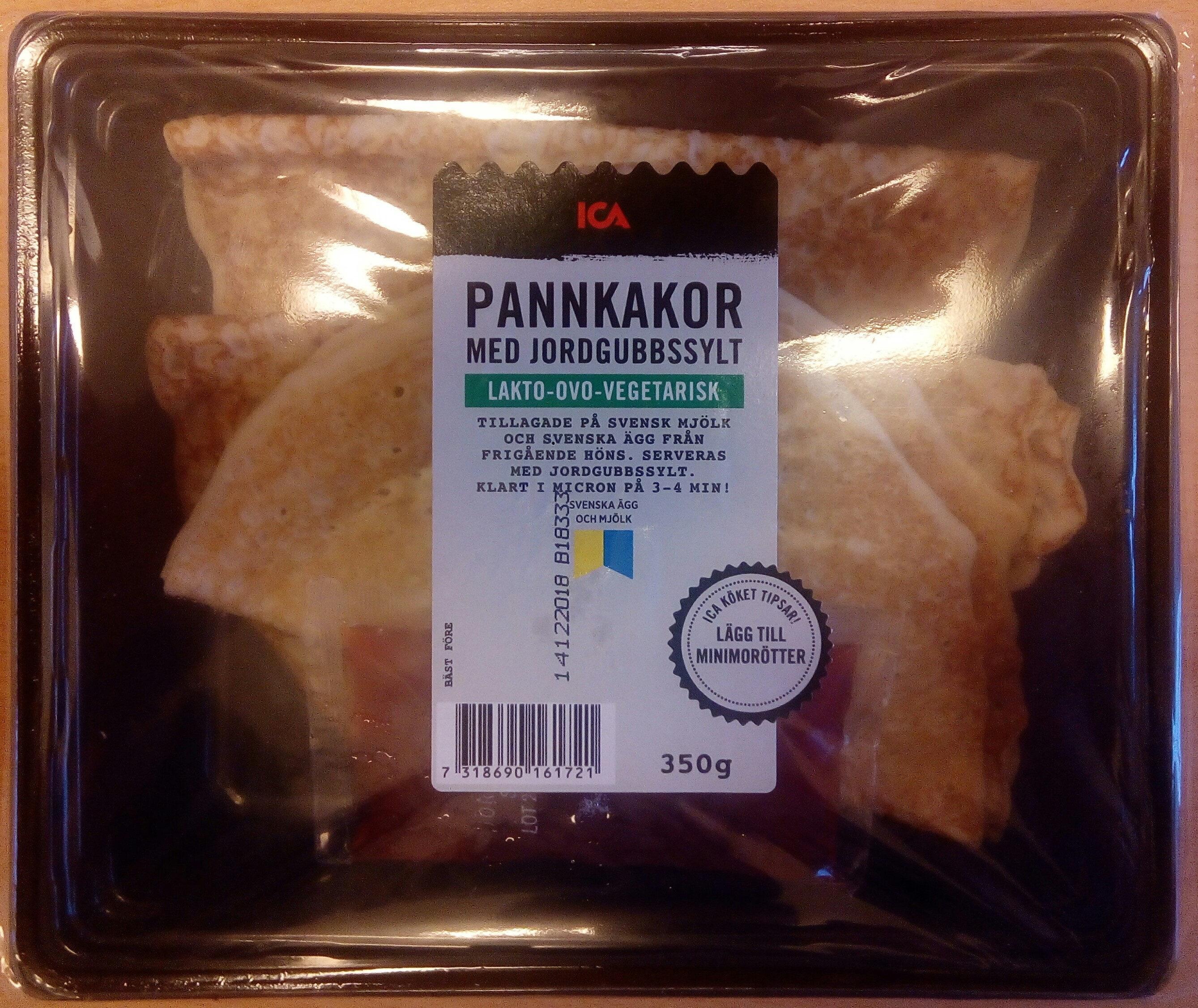 ICA Pannkakor med jordgubbssylt - Produit - sv