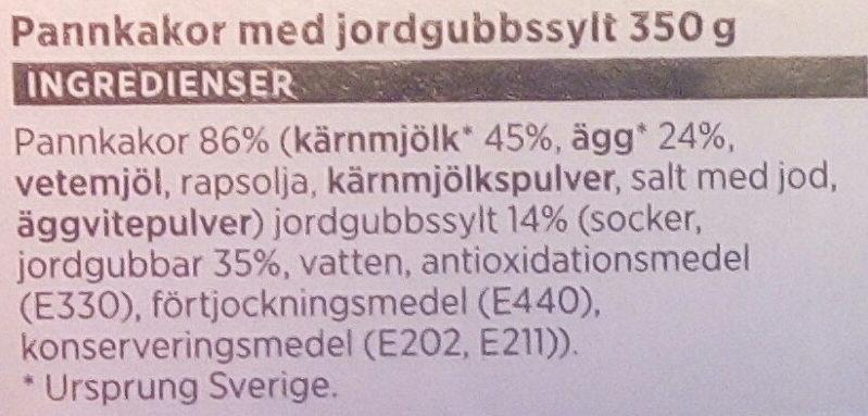 ICA Pannkakor med jordgubbssylt - Ingrédients - sv