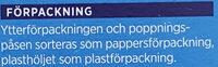 ICA Pop Corn Micropop Saltade - Instruction de recyclage et/ou informations d'emballage - sv