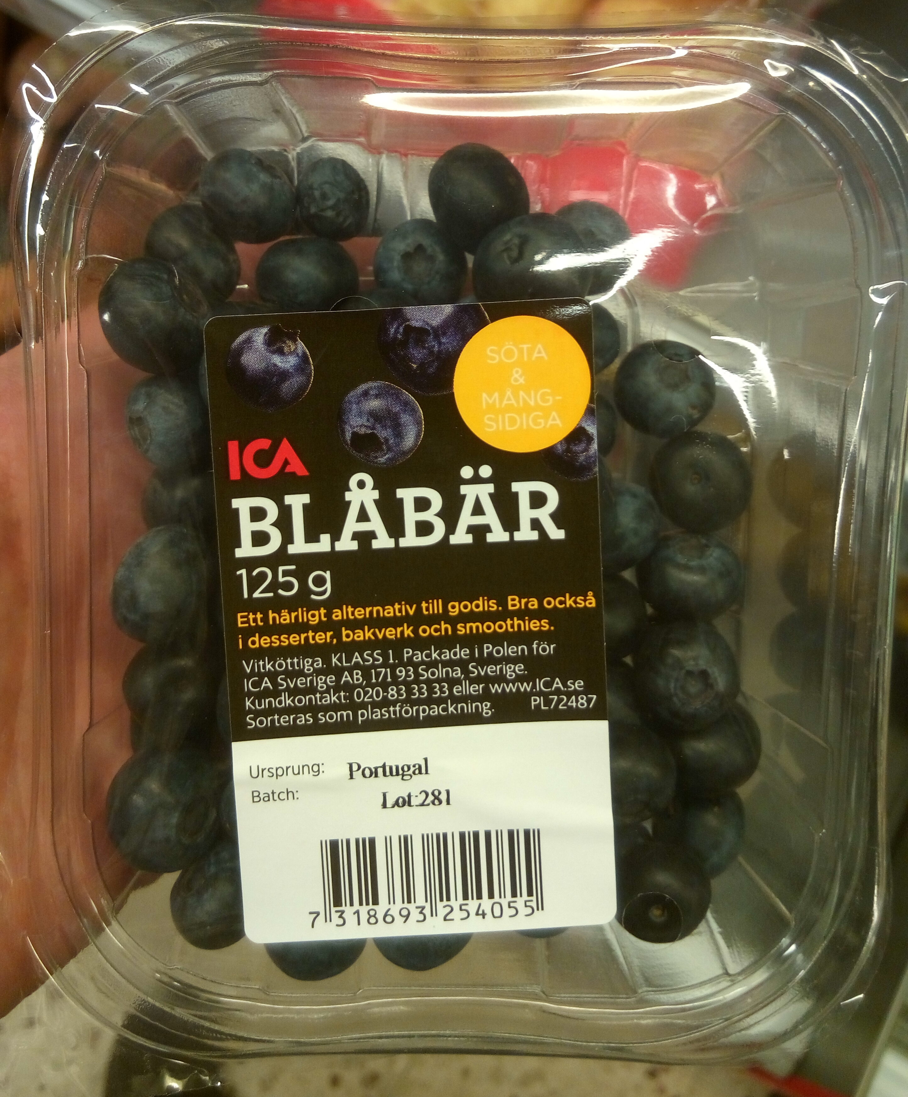 Blåbär - Product - sv