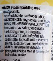 ProPud protein pudding vanilla - Njie - Ingrédients - fr