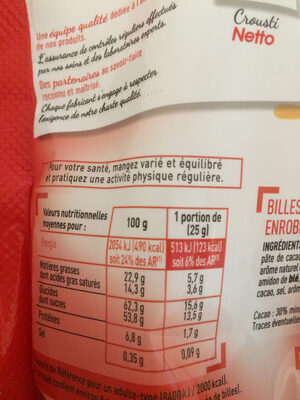 Crousti - Nutrition facts - fr