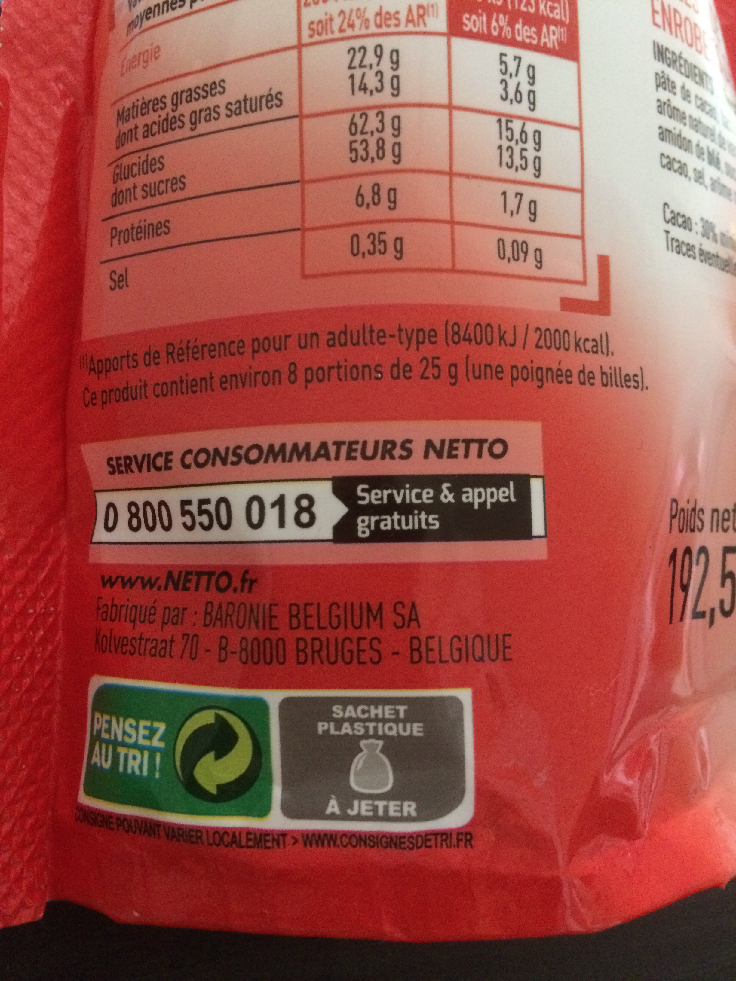 Crousti - Recycling instructions and/or packaging information - fr