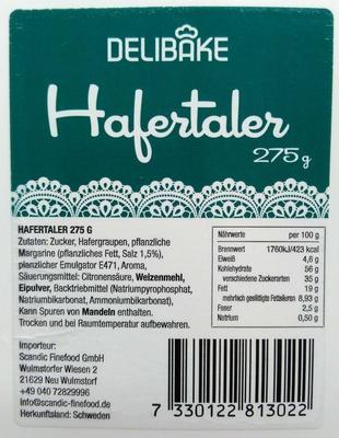 Hafertaler - Produkt