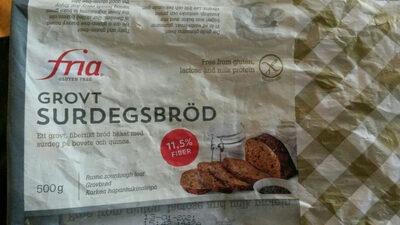Grovt surdegsbröd - Produit - nb