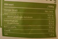 Vegane Köttbullar - Nutrition facts
