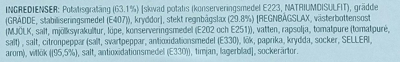 Guldfisken Kök Lax med Gratäng och Västerbottensost - Ingrédients