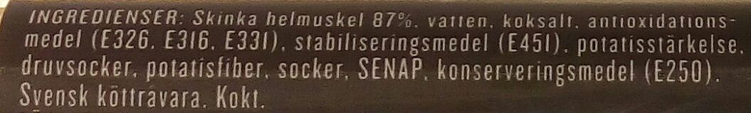 Pärsons Skivad julskinka - Ingredients