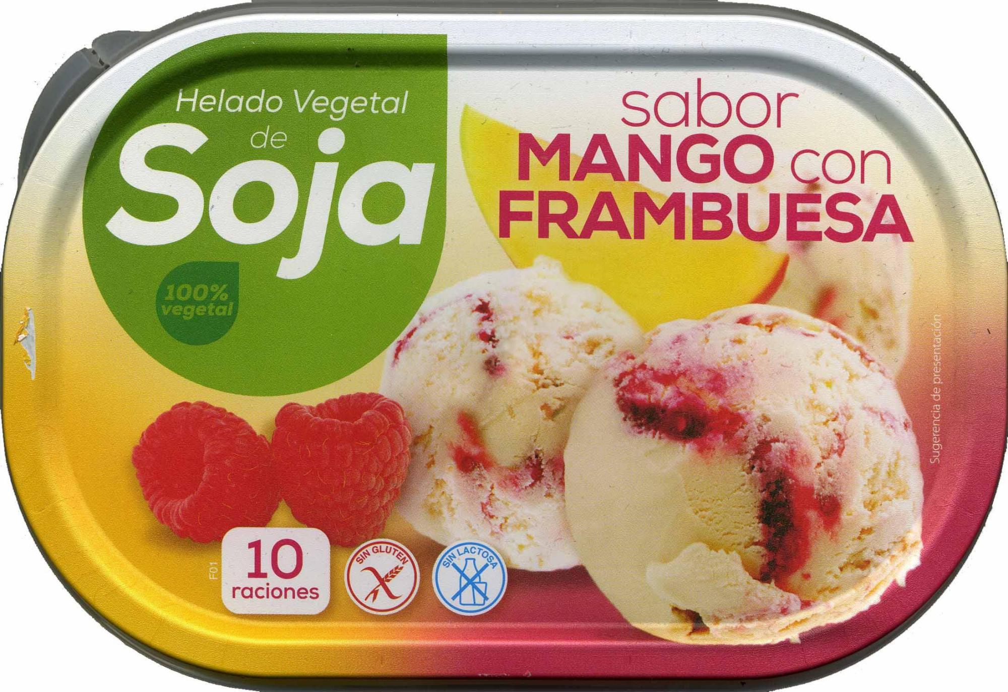 Helado de soja sabor mango frambuesa - Producto - es