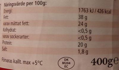 Wernerssons Gräddost - Voedingswaarden - sv