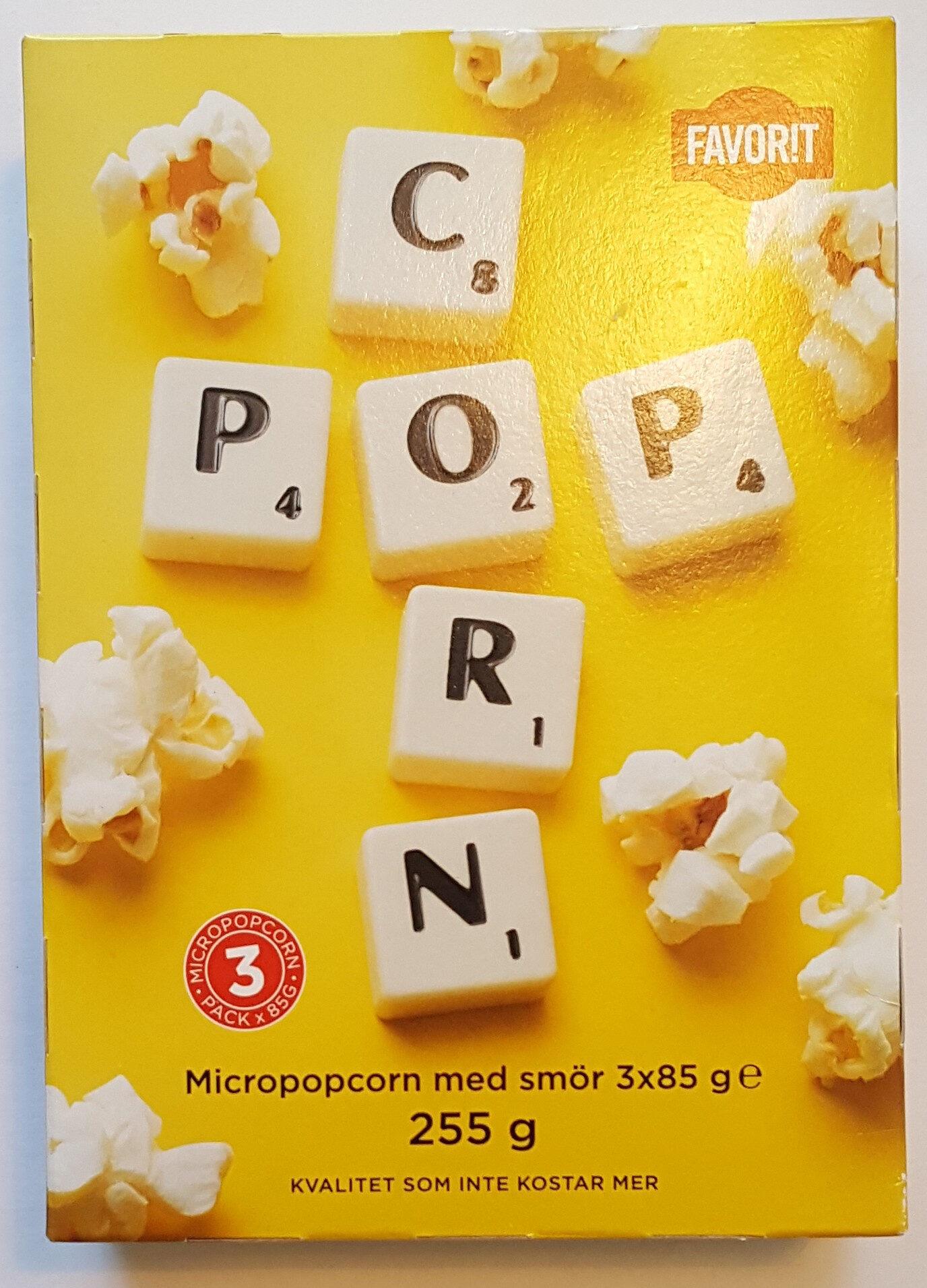 Micropopcorn med smör - Produit - sv