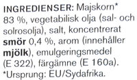 Micropopcorn med smör - Ingrédients - sv