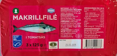 Makrillfilé I tomatsås - Produit - sv