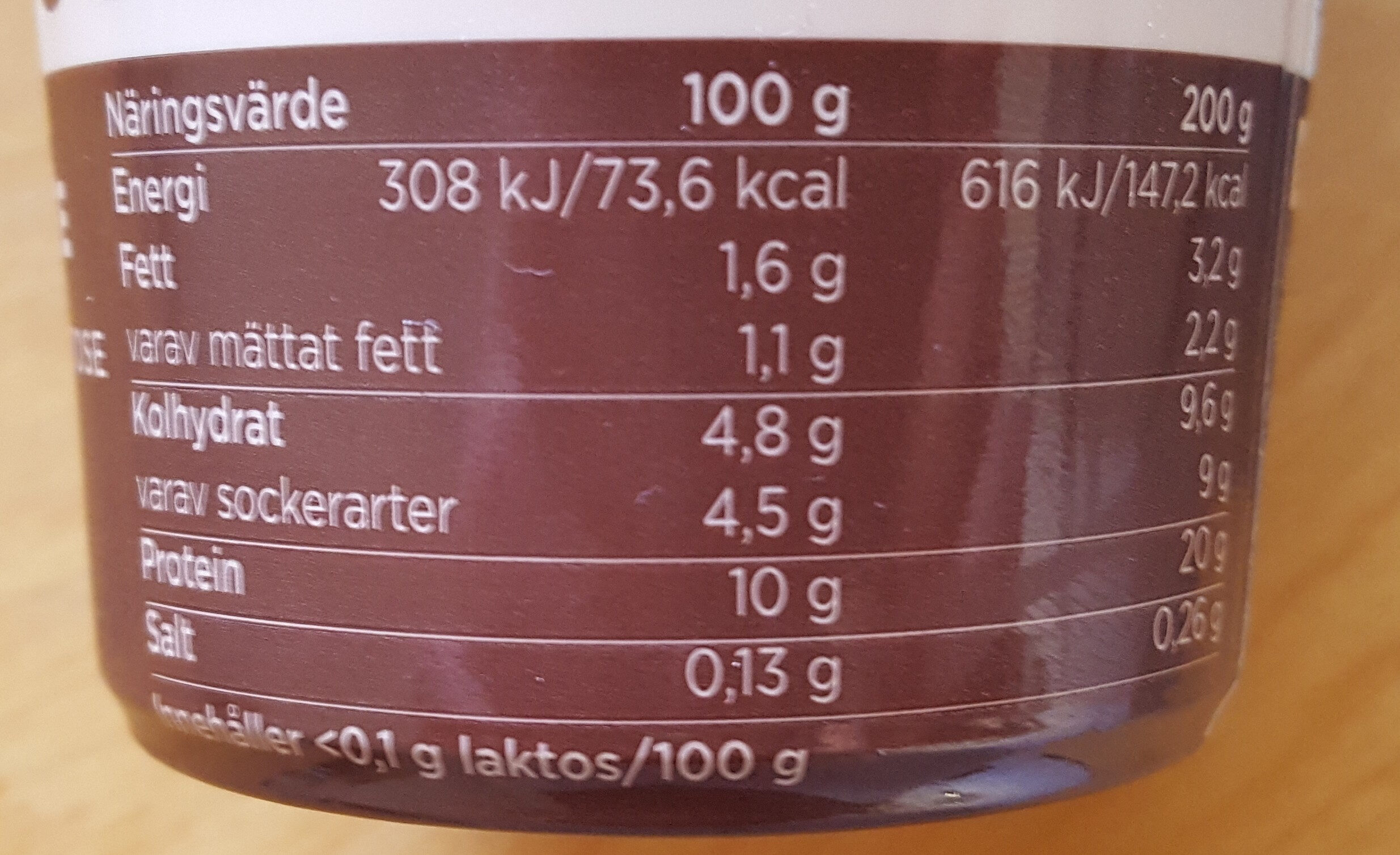 Protein Pudding Double Chocolate - Voedingswaarden - sv