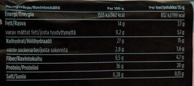 Barebells Protein Bar Caramel-Cashew 55g - Informations nutritionnelles - fr
