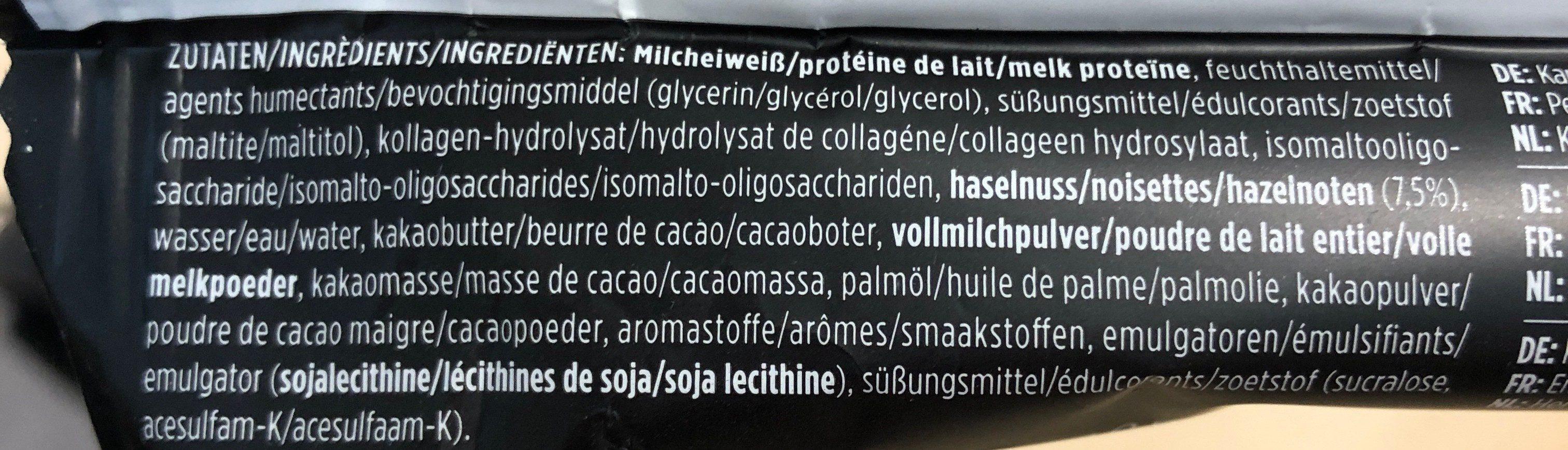 Protein Bar hazelnut & nougat - Ingrédients - fr