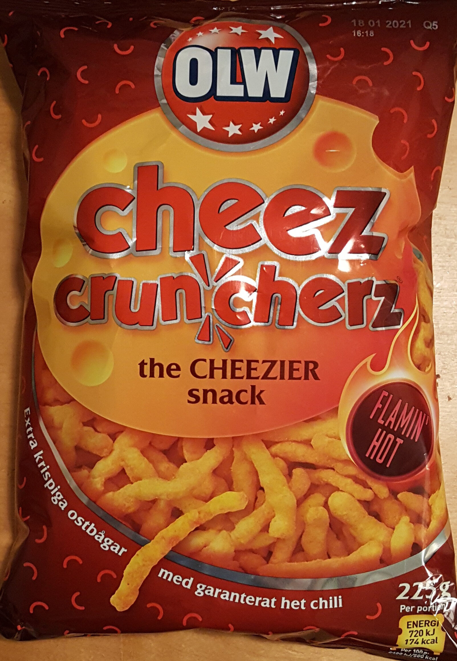 Cheez Cruncherz - Flaming Hot - Produit - sv