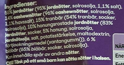 Nöt Mix - Bär - Ingrédients - sv