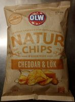 OLW Naturchips Cheddar & Lök - Product