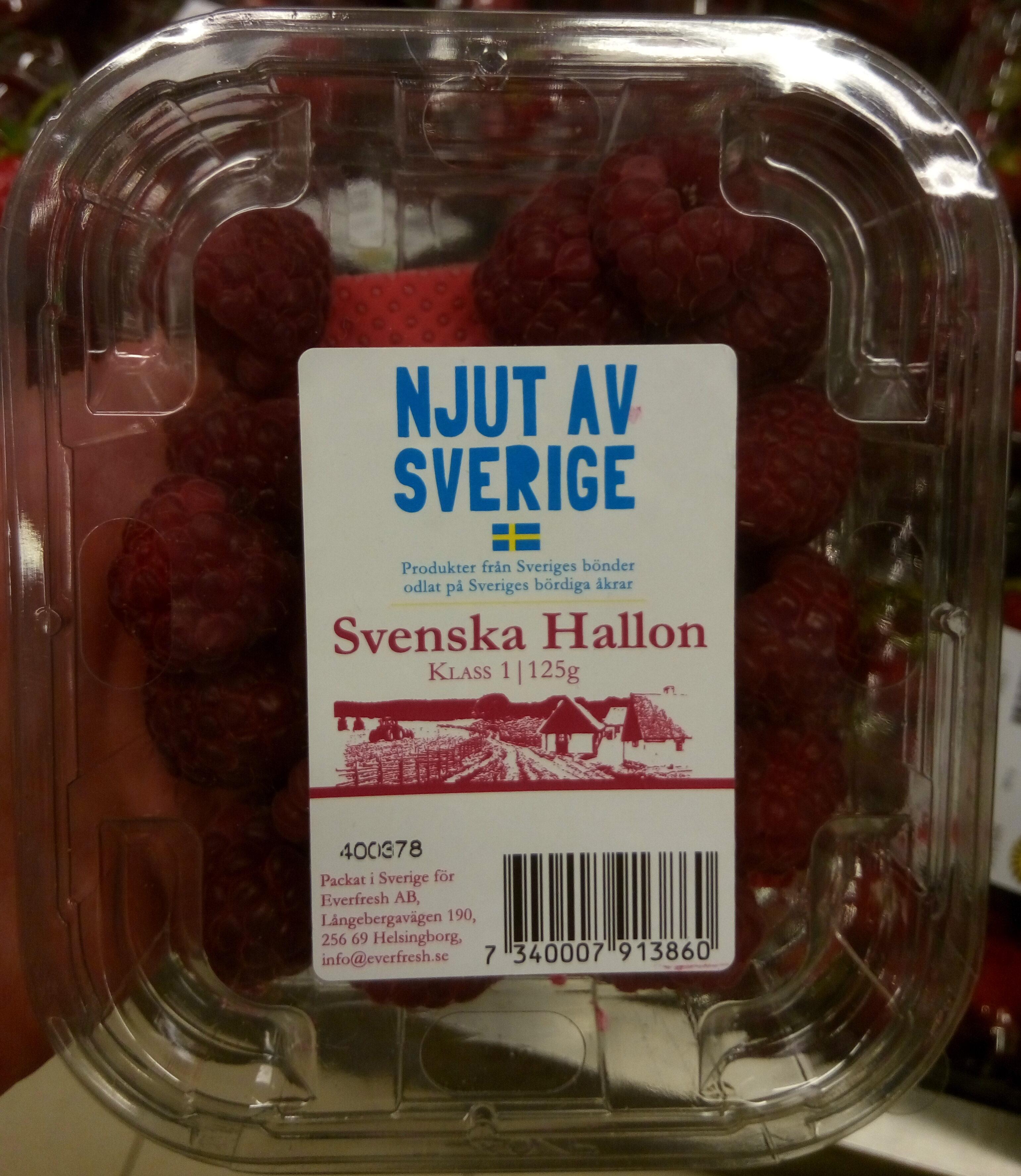 Njut Av Sverige Svenska Hallon - Product - sv