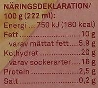 Coop Partyglass med smak av jordgubb, vanilj & päron - Informations nutritionnelles - sv