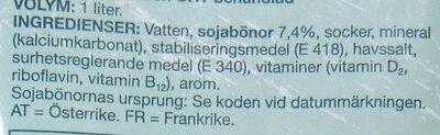 Soja-dryck - Ingrediënten - sv